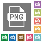 PNG file format icons