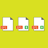 EPS file format icon,vector illustration. Flat design style. vector EPS file format icon illustration isolated on White background, EPS file format icon Eps10.