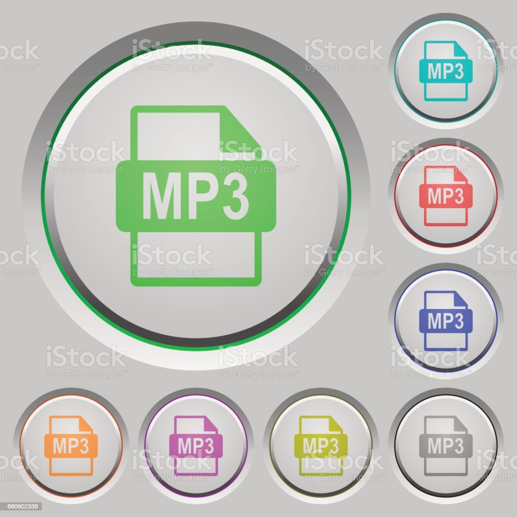 MP3 file format push buttons royalty-free mp3 file format push buttons stock vector art & more images of applying