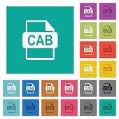 CAB file format square flat multi colored icons