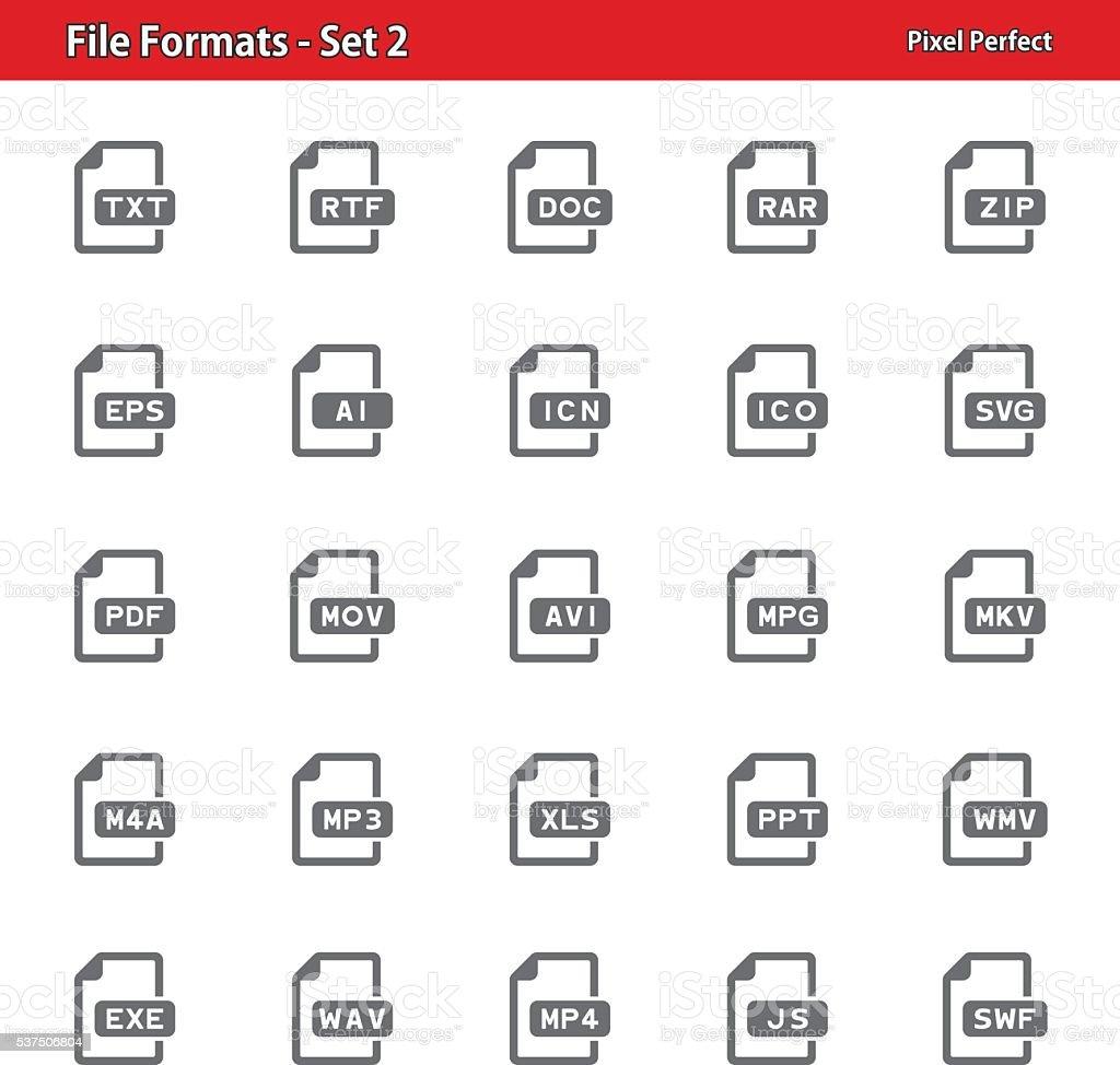 File Formats Icons - Set 2 vector art illustration