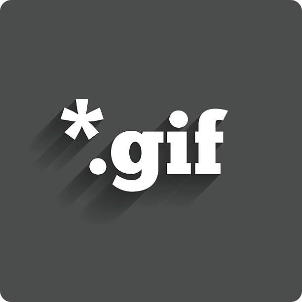 file gif sign icon. download image file. - gif stock illustrations