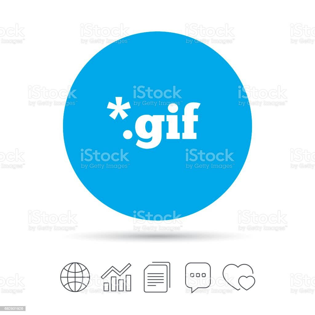 File GIF sign icon. Download image file. royalty-free file gif sign icon download image file stock vector art & more images of art