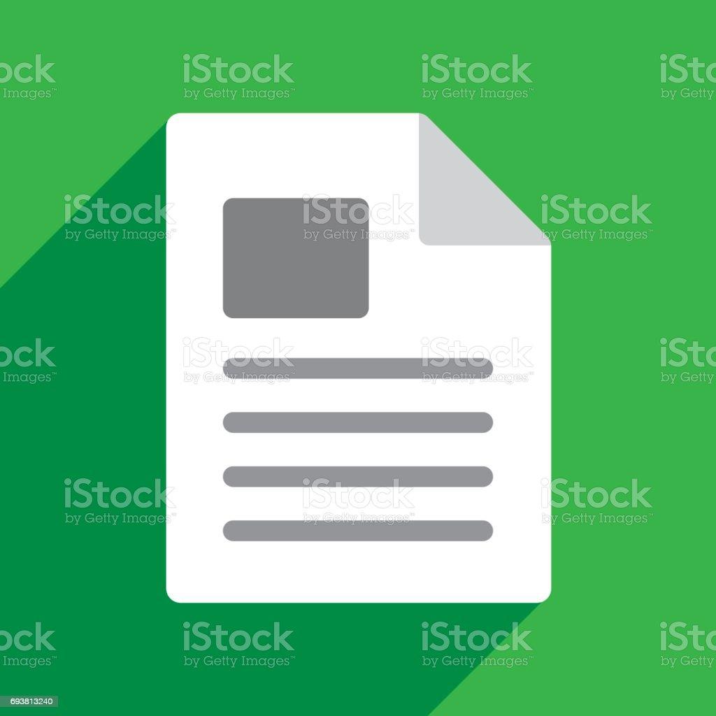File Icon Flat vector art illustration