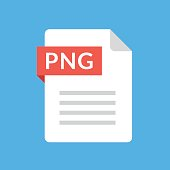 PNG file icon. Image document type. File extension. Flat design graphic illustration. Vector PNG icon