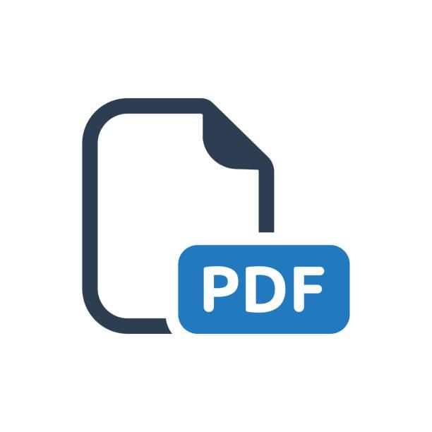 PDF 파일 아이콘 벡터 아트 일러스트