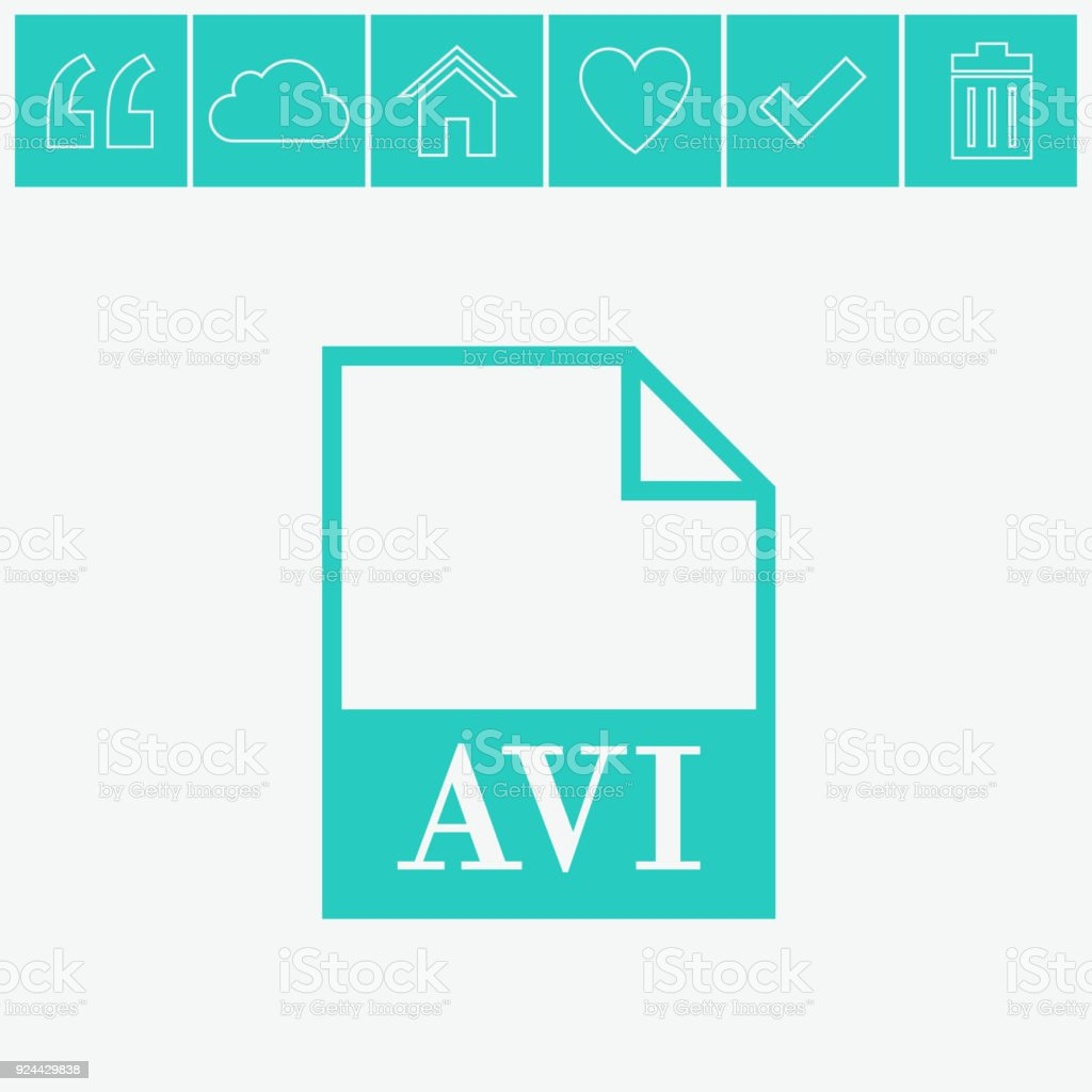 AVI file icon. Vector. vector art illustration