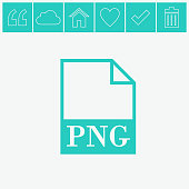 PNG file icon. Vector.