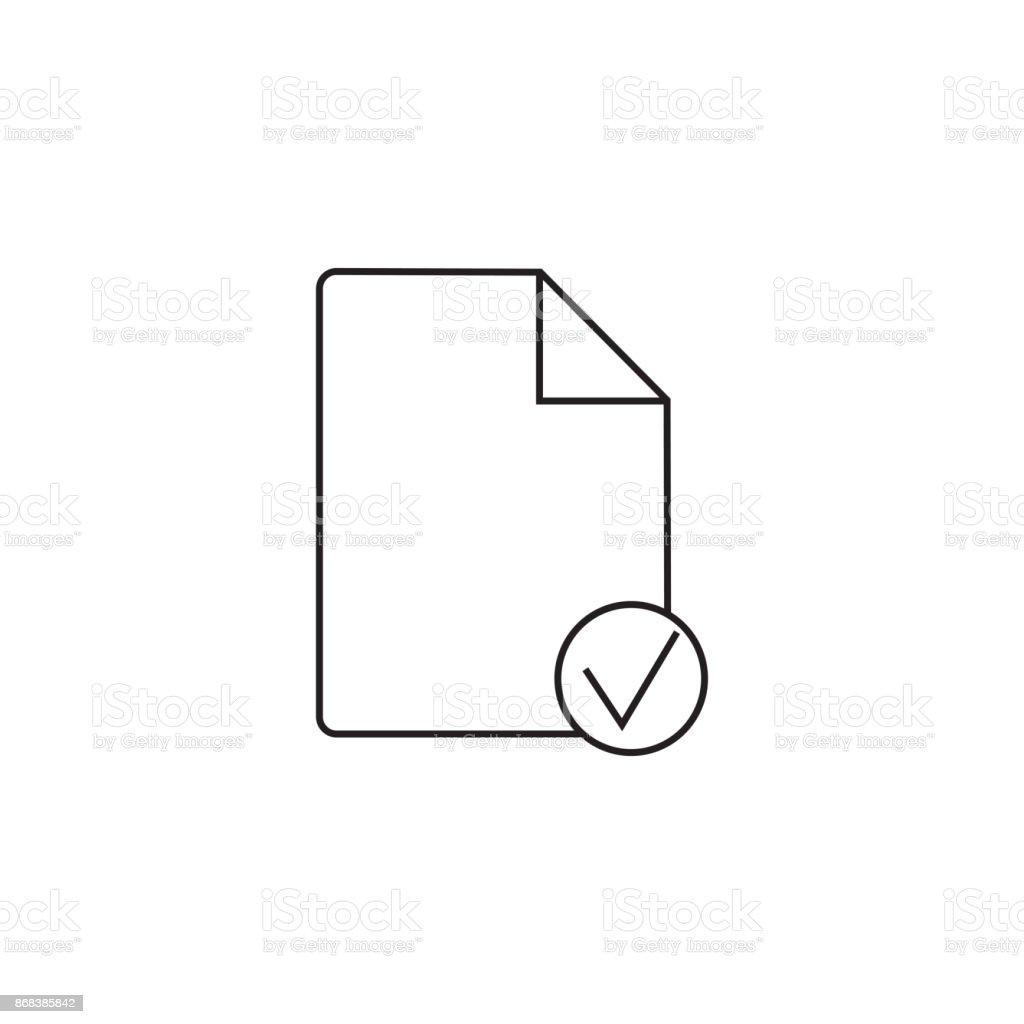 Icône De Fichier Ligne Illustration Logo De Document Vierge