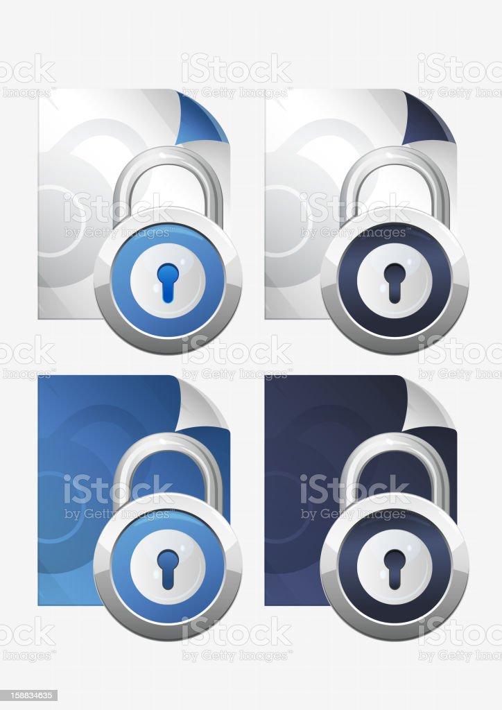 File Lock royalty-free stock vector art