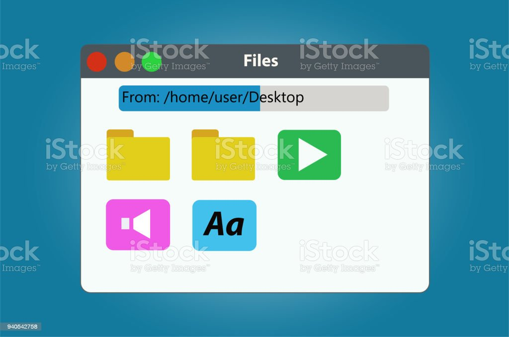 File Manager Window Contains The Files And Folders Stock
