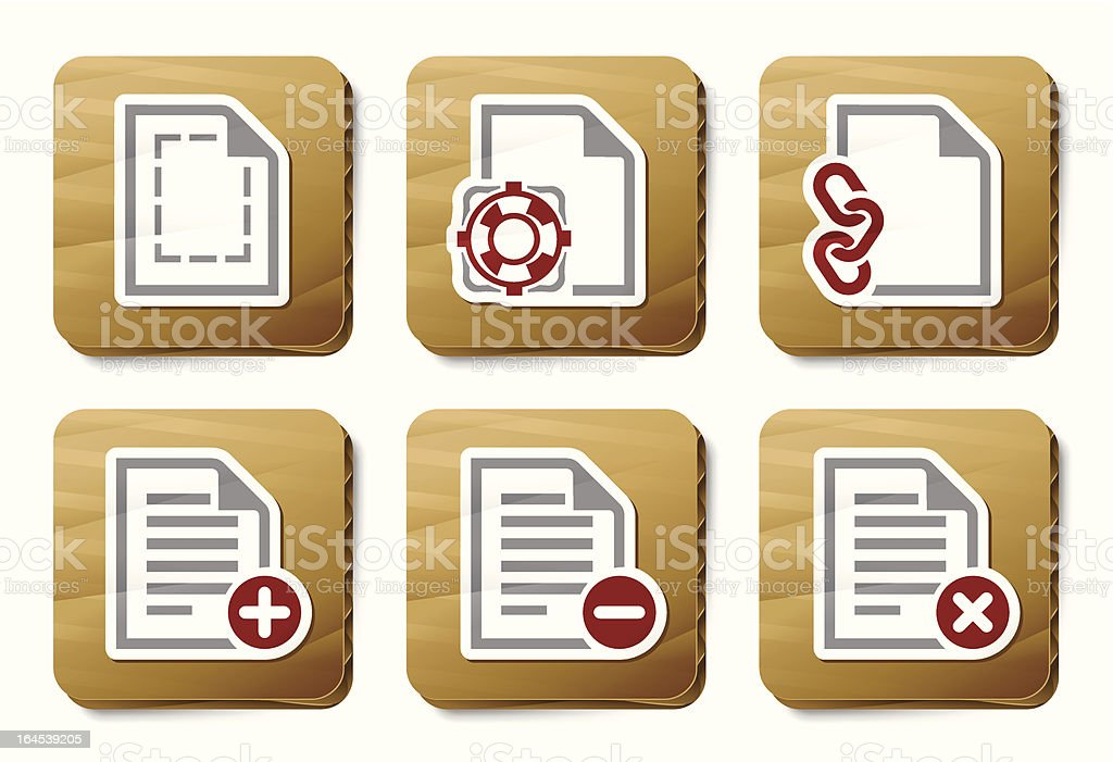 File manipulations icons | Cardboard series royalty-free stock vector art