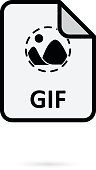 GIF file on white background vector