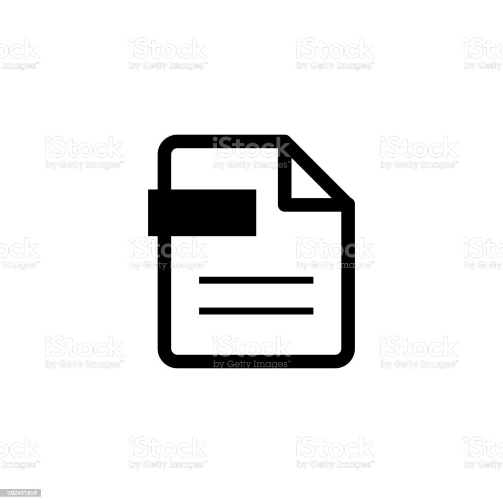 file / PDF / document icon - Royalty-free Advice stock vector