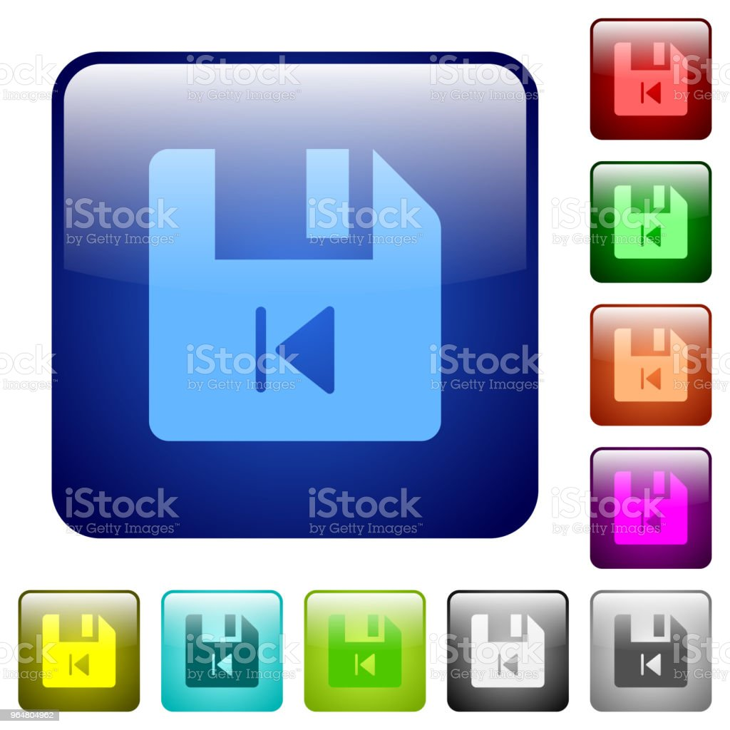 File previous color square buttons royalty-free file previous color square buttons stock vector art & more images of bending over backwards