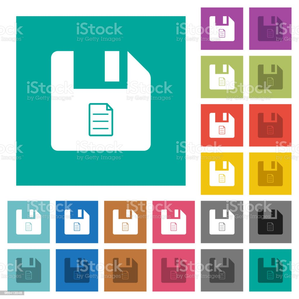 File properties square flat multi colored icons royalty-free file properties square flat multi colored icons stock vector art & more images of angle
