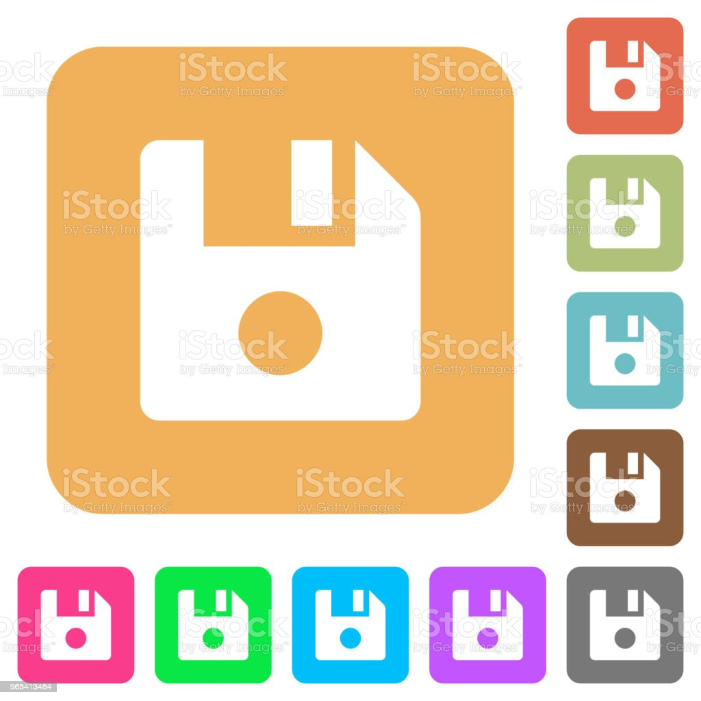 File record rounded square flat icons file record rounded square flat icons - stockowe grafiki wektorowe i więcej obrazów akta royalty-free