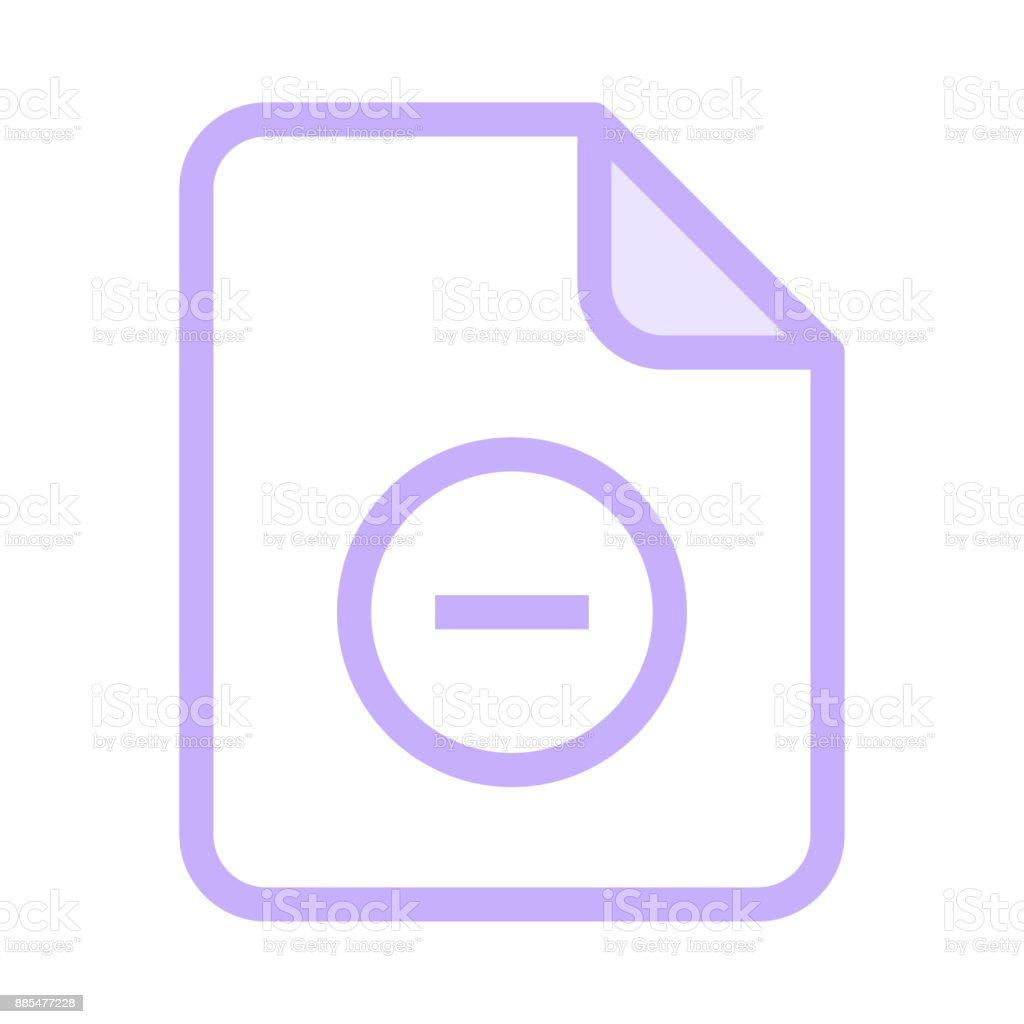 file remove colour line vector icon