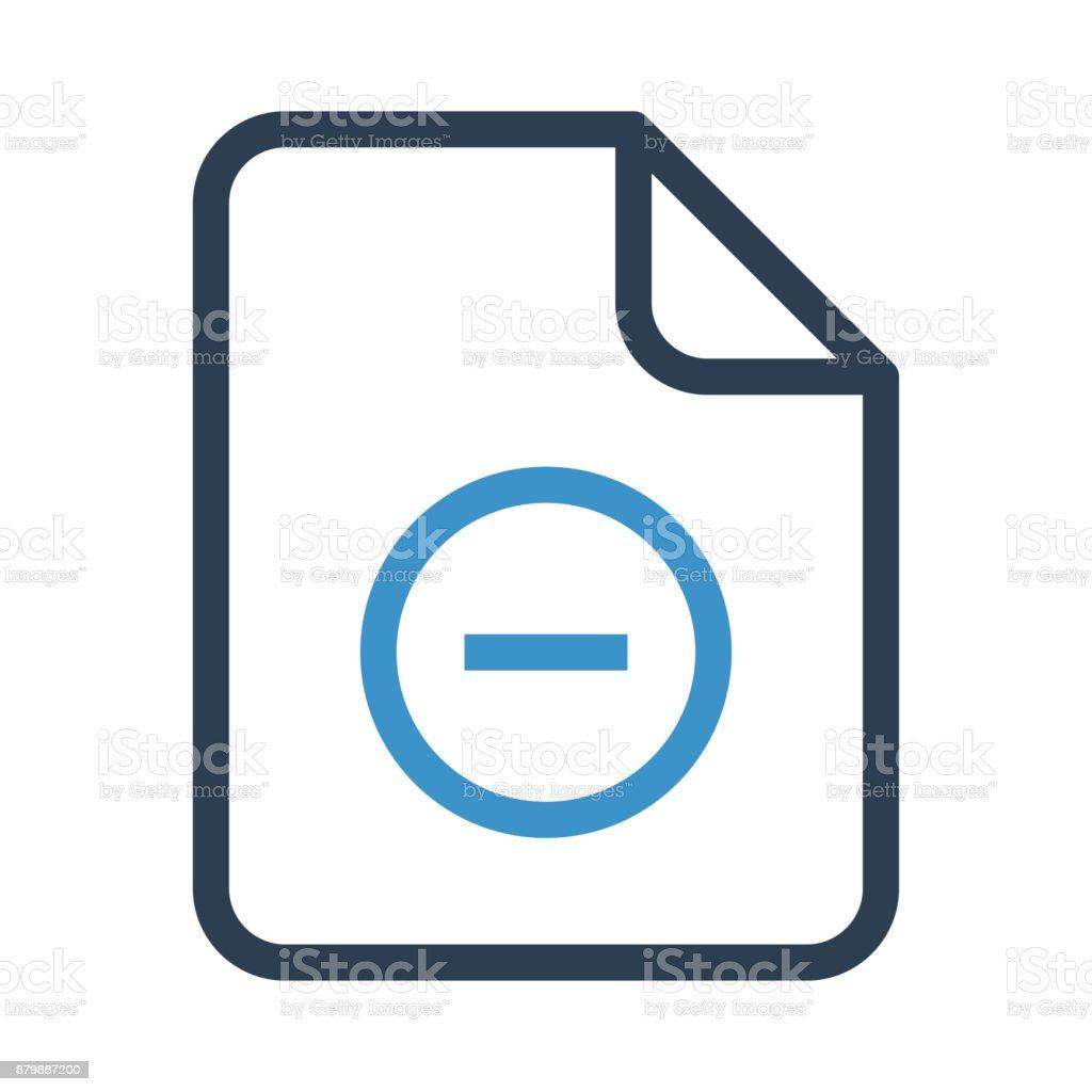 file remove thin colour line vector icon