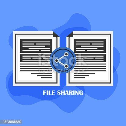 istock File sharing icon 1323868850