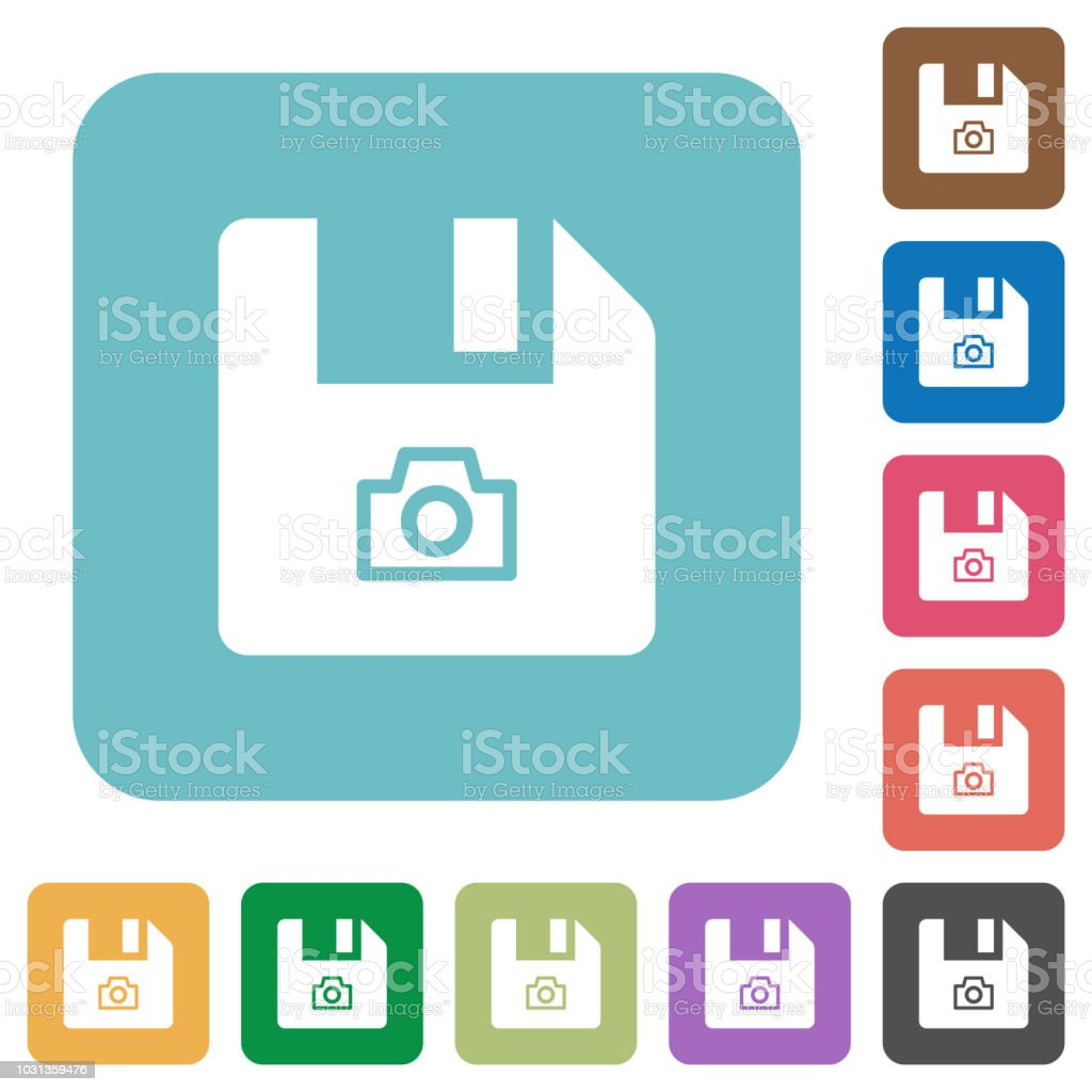 File snapshot rounded square flat icons