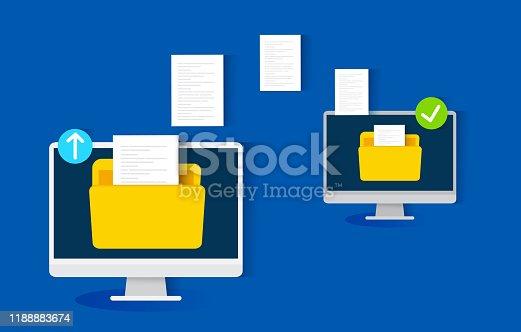 istock file transfer concept, vector illustration 1188883674