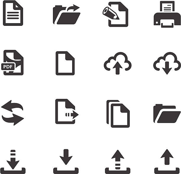 File Transfer Symbols http://www.cumulocreative.com/istock/File Types.jpg downloading stock illustrations