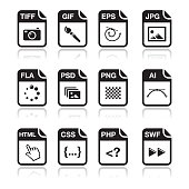 File type black icons - graphic and web design, web development