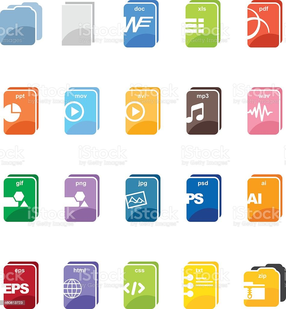 File type computer color harmony icons vector art illustration