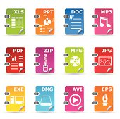 File type icon set: General