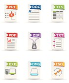 File type icon set: Office and Computer