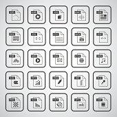 File type icon set