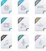 File type icons: Audio & Video