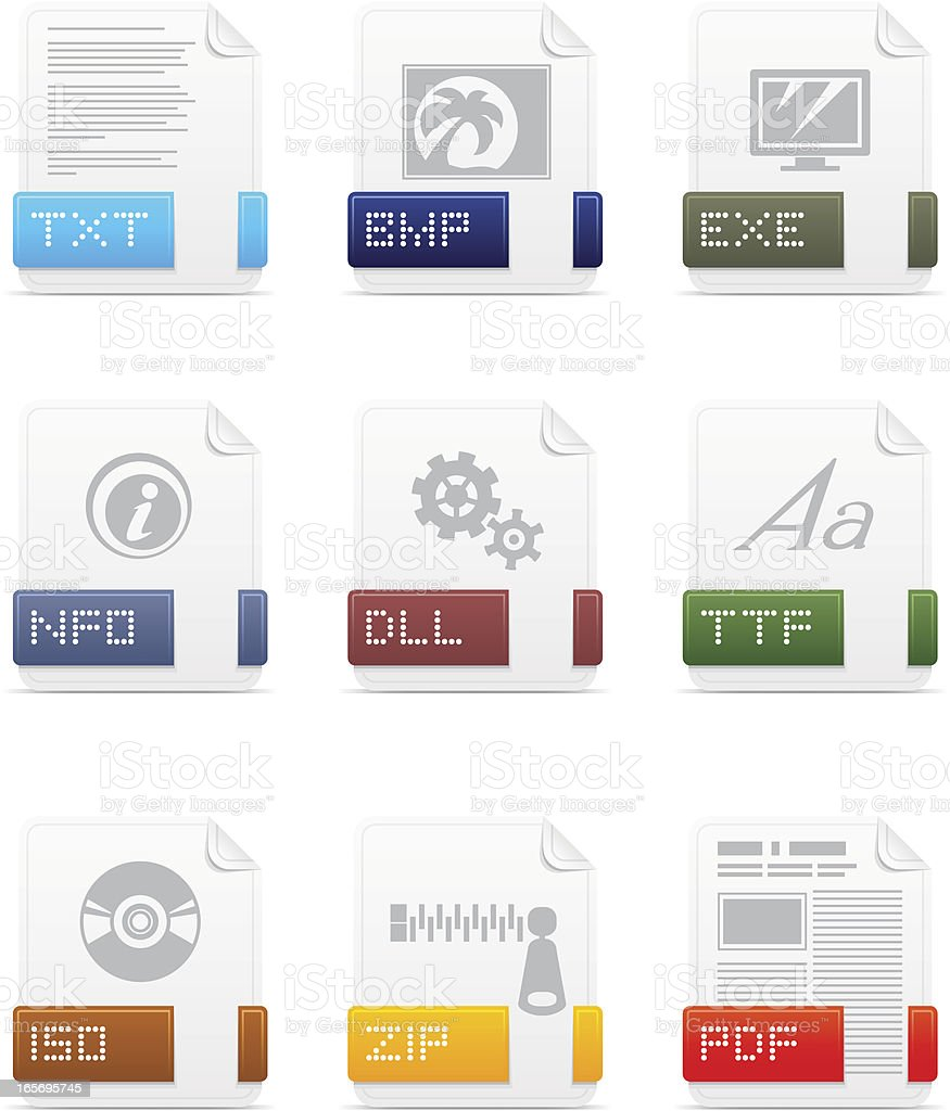File type icons: System pack royalty-free file type icons system pack stock vector art & more images of computer equipment