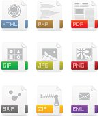 File type icons: Web pack