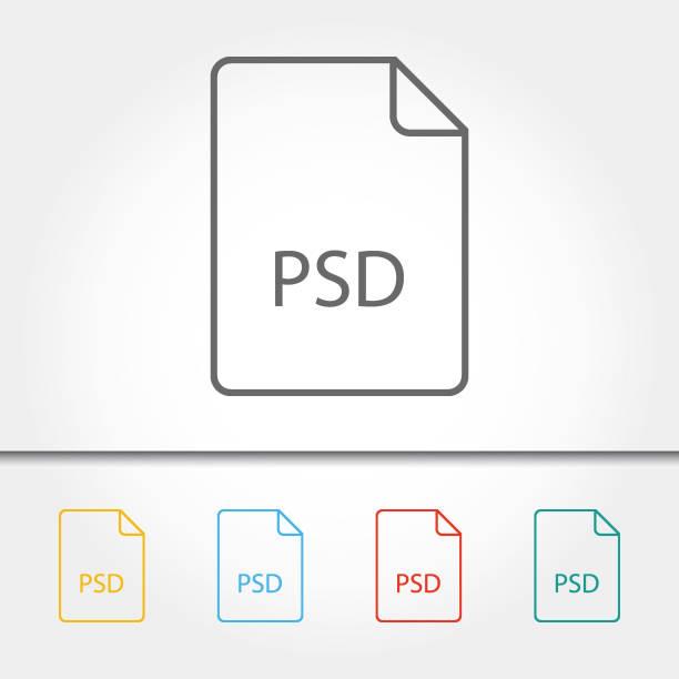 Bestand Type PSD één pictogram vectorillustratievectorkunst illustratie