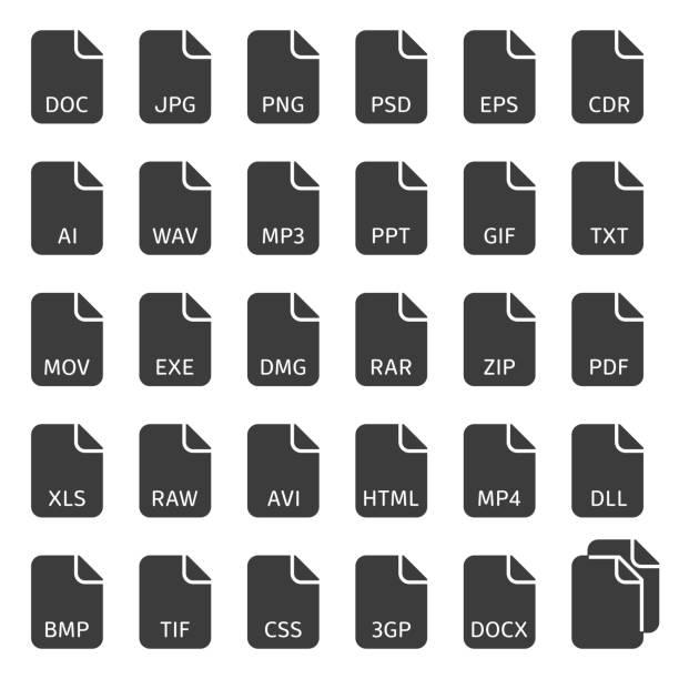 Bestand type vector iconen.vectorkunst illustratie