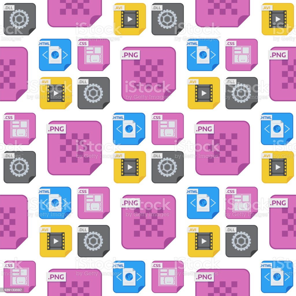 File Types And Formats Seamless Pattern Background