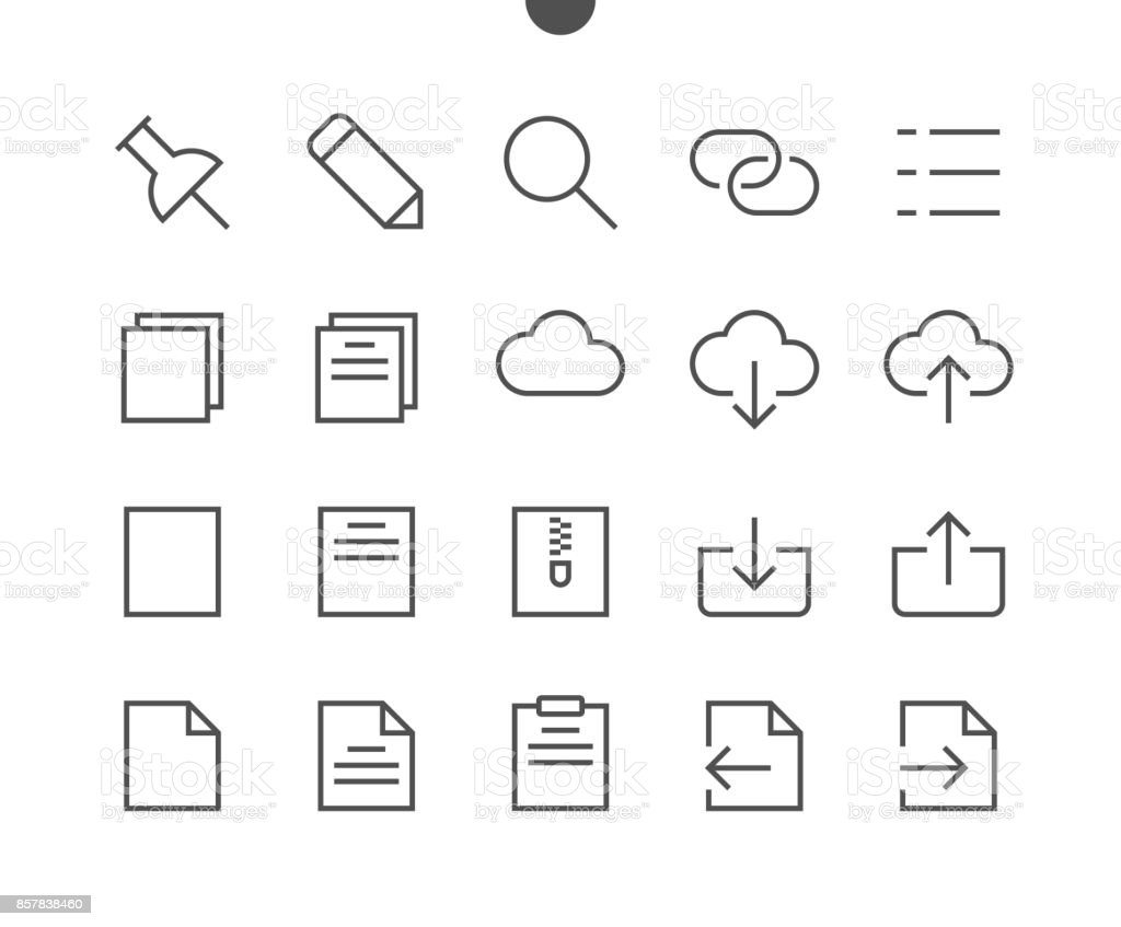 File UI Pixel Perfect Well-crafted Vector Thin Line Icons 48x48 Ready for 24x24 Grid for Web Graphics and Apps with Editable Stroke. Simple Minimal Pictogram vector art illustration