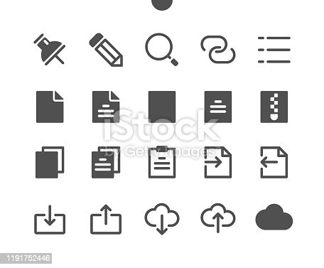 istock 15 File v2 UI Pixel Perfect Well-crafted Vector Solid Icons 48x48 Ready for 24x24 Grid for Web Graphics and Apps. Simple Minimal Pictogram 1191752446