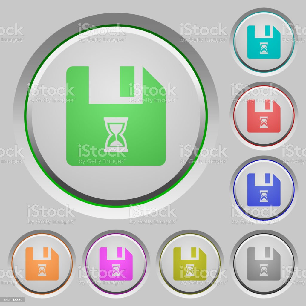 File waiting push buttons file waiting push buttons - stockowe grafiki wektorowe i więcej obrazów akta royalty-free