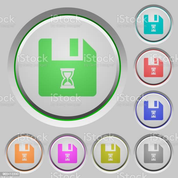 Przyciski Oczekiwania Na Plik - Stockowe grafiki wektorowe i więcej obrazów Akta