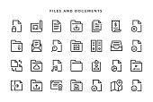 Files and Documents Icons - Vector EPS 10 File, Pixel Perfect 28 Icons.