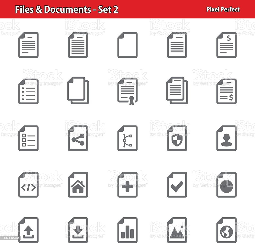 Files & Documents - Set 2 vector art illustration