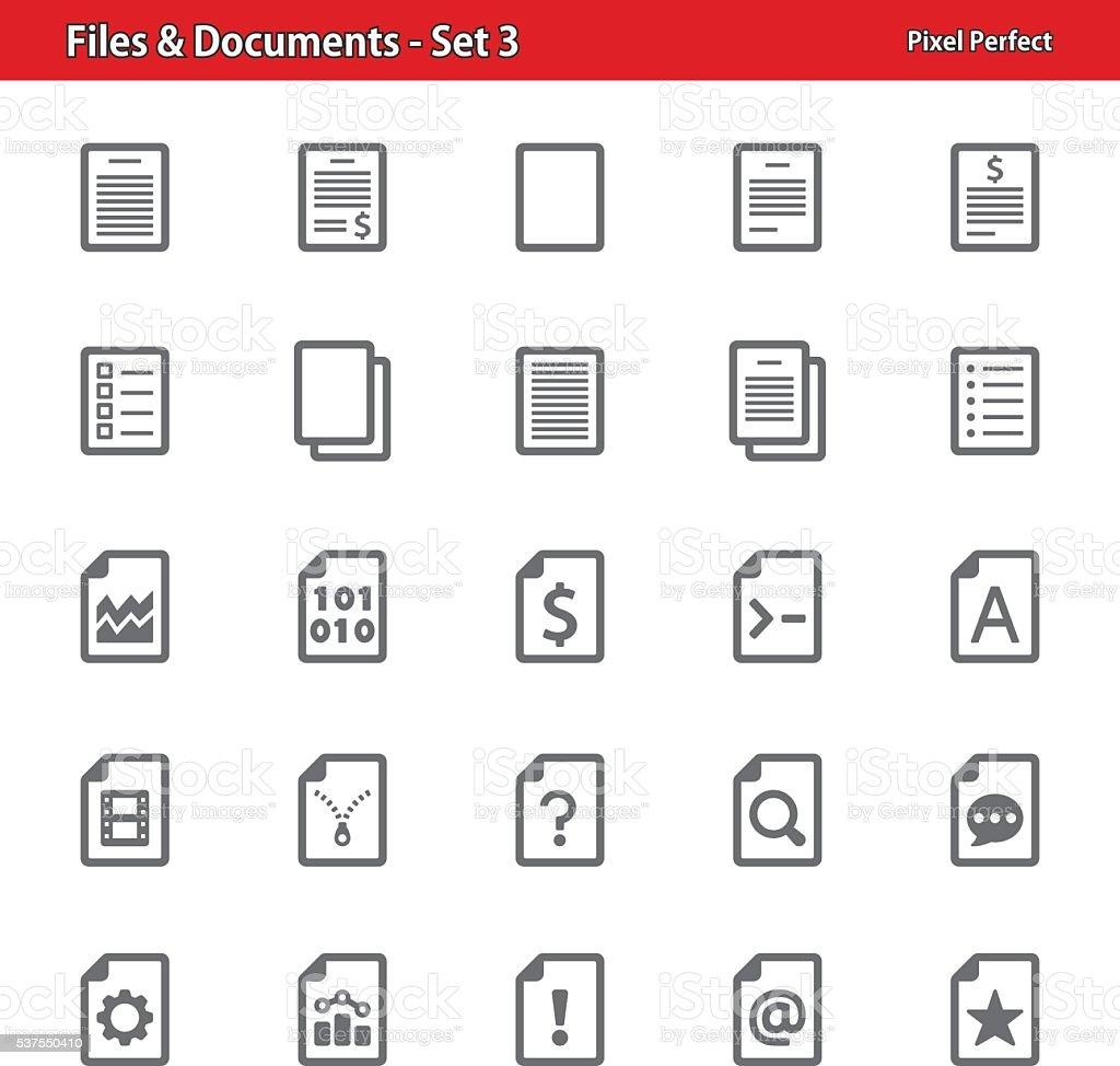 Files & Documents - Set 3 vector art illustration