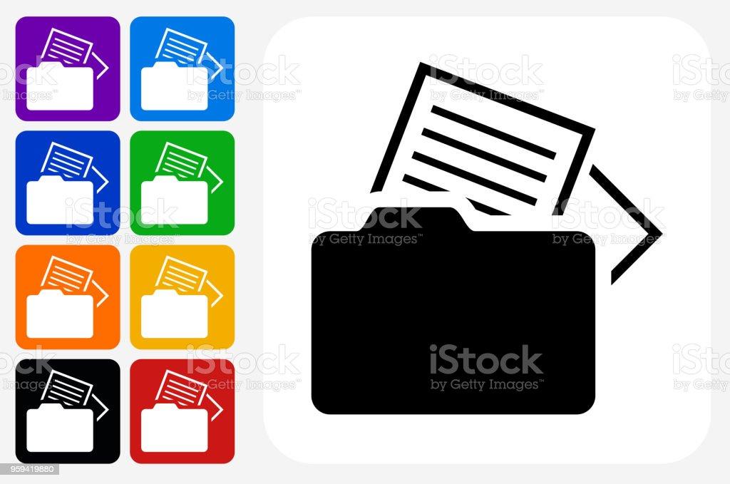 Dateien Symbol Square Buttonset – Vektorgrafik