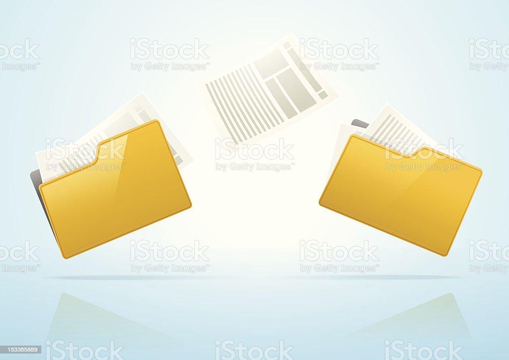 Files Transfer royalty-free stock vector art