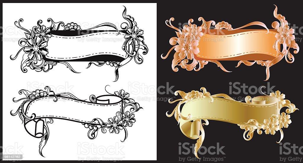 Filigrana Banner filigrana banner - immagini vettoriali stock e altre immagini di arabesco - motivo ornamentale royalty-free