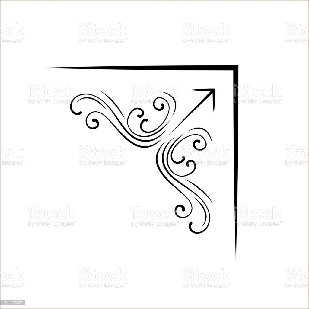 Swirls Calligraphic Design Element Page Decoration Vector Royalty