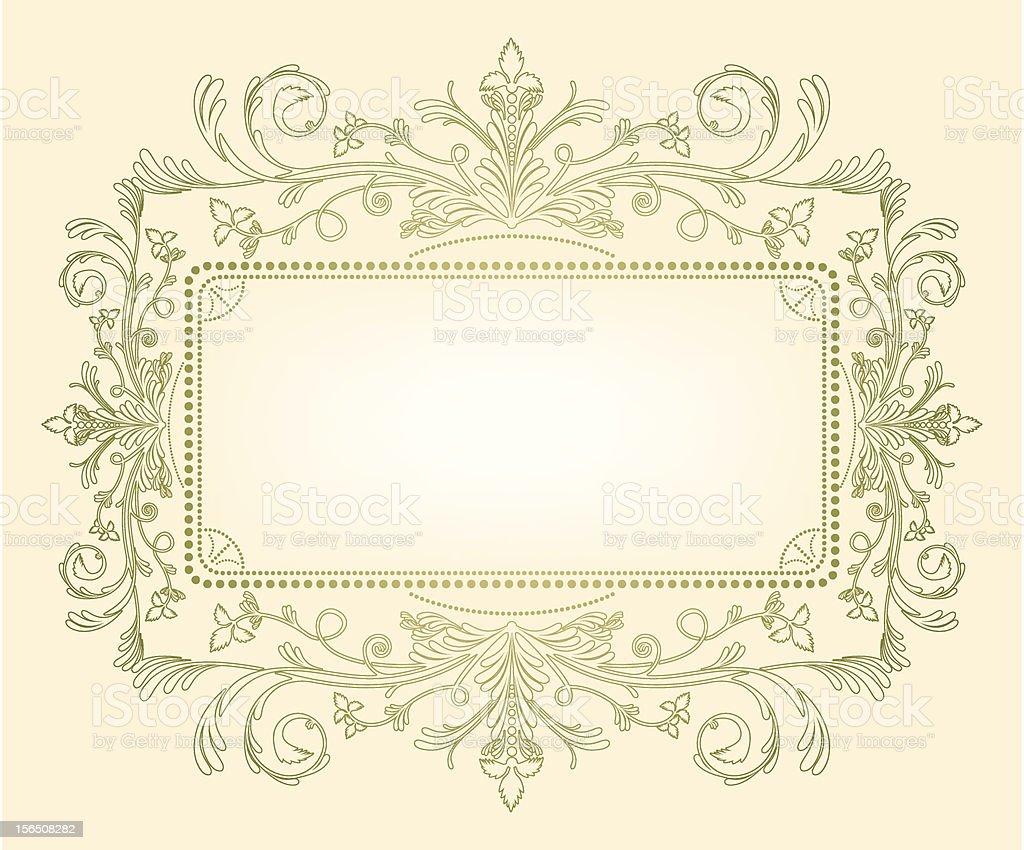 Filigree on Cream royalty-free stock vector art